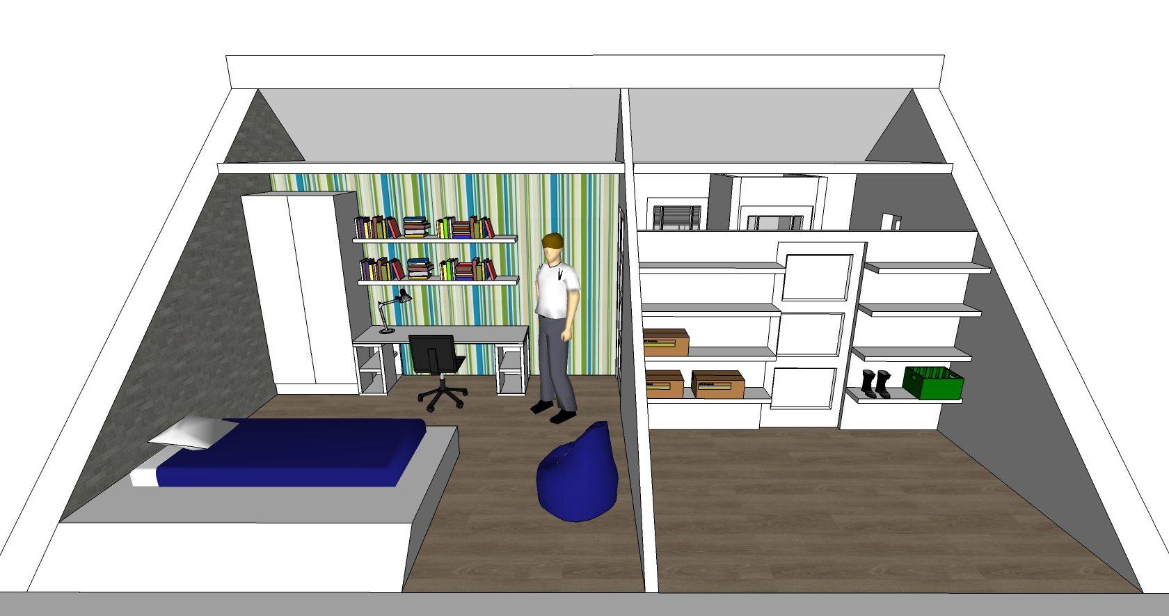 offiz-hoomz-interieuradvies-zeist-slaapkamer-zolder-3d-impressie1