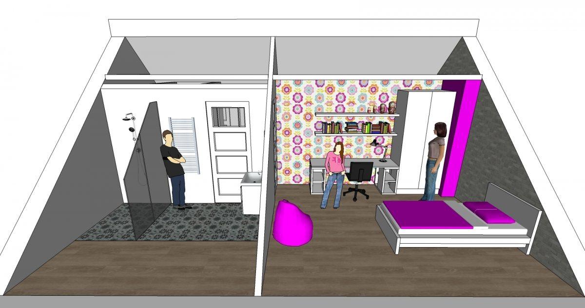 offiz-hoomz-interieuradvies-zeist-slaapkamer-zolder-3d-impressie2