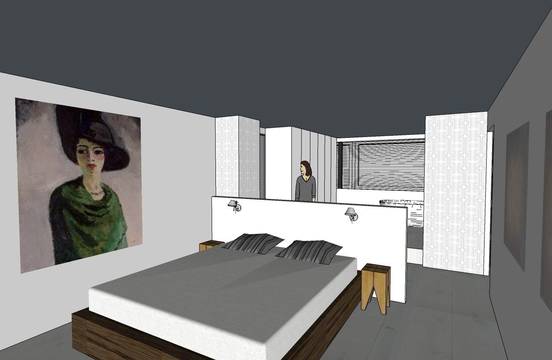 Ongekend Interieurontwerp voor slaapkamer, badkamer en zolder woonhuis in LJ-02