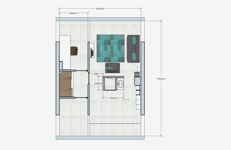 offizhoomz-zeist-plattegrond-zolder-badkamer-doorsnede