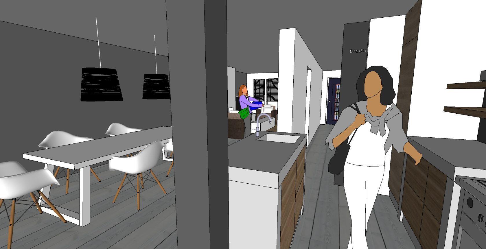 Offiz & Hoomz Oegstgeest interieurvoorstel voor woonkamer slaapkamer badkamer 2